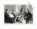The Approaching Trial of Arabi, the Finding of the Important Papers: An Interview Between Mr. Broadley and Arabi's Son; Mr. A.M. Broadley (First from Left); Mr. Evans (Interpreter) (Fourth from Left); the Hon. Mark Napier (Fifth from Left) by Anonymous