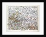 Map of Sachsen-Anhalt Sachsen Saxony Germany 1899 by Anonymous