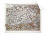 Map of the Southern Part of Bavaria Germany 1899 by Anonymous