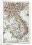 Map of Vietnam Cambodja Laos 1899 by Anonymous