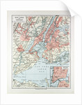 Map of New York, United States of America 1899 by Anonymous