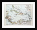 Map of Honduras Nicaragua Costa Rica the Northern Part of Columbia Venezuela Cuba 1899 by Anonymous