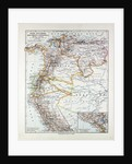 Map of Peru Ecuador Venezuela and Columbia 1899 by Anonymous