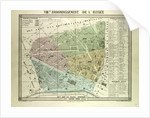 Map of the 8th Arrondissement De L'Elysee Paris France by Anonymous