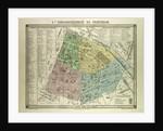 Map of the 5th Arrondissement Du Pantheon Paris France by Anonymous