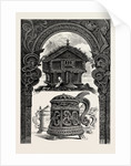 Carved Lintel, Stabbur and Tankards by Anonymous