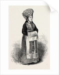 A Norwegian Bride Wearing Her Crown by Anonymous