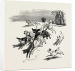 A Troop of Dogs, 19th Century by Anonymous