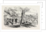 Inauguration of the Cascades in the Bois De Boulogne Paris by the Emperor and Empress of the French by Anonymous