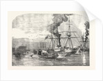 Steamships of the Allied Fleet Searching for Infernal Machines Off Cronstadt Russia 1854 by Anonymous