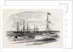 The British Steamer Bengal Bringing a Supposed Russian Prize Into Madras Harbour 1854 by Anonymous