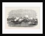 Attack on the Town of Novitska in the White Sea by the Miranda and Brisk 1854 by Anonymous