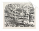 Interior of the Grand Opera-House at Paris France 1854 by Anonymous