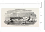 Russian Prisoners at Sheerness: The Devonshire Prison-Ship at Sheerness 1854 by Anonymous
