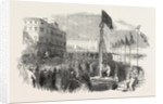 Ceremony of Driving the First Pile of the Wellington Pier, at Great Yarmouth, UK, 1853 by Anonymous