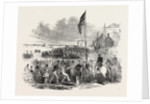 Embarkation of Troops at Gravesend, for Foreign Service: Preparing to Embark. UK, 1846 by Anonymous