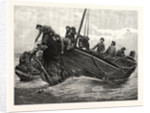 Fishing Up Lost Anchors, 1885 by Anonymous