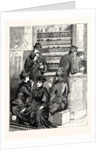 The Railway Strikes in Scotland: Lunch in a Booking Office Whilst Waiting for the Train by Anonymous