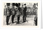 The Presentation of Medals to Guardsmen on the Horse Guards' Parade in Recognition of Their Bravery at the Recent Fire at Wellington Barracks by Anonymous