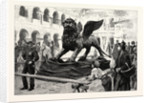 The Winged Lion of St. Mark Lying in the Piazzetta San Marco Venice Italy after Being Taken Down for Repairs by Anonymous