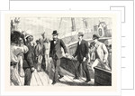 Lord Randolph Churchill's First Step on African Soil: Landing at Table Bay from the Steam Tug Tiger by Anonymous