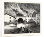 The Mont Cenis Tunnel from the Italian Side by Anonymous