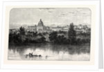 St Peter's and the Vatican from the Tiber Banks Rome by Anonymous