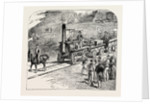 The First Train on the Stockton and Darlington Railway. by Anonymous