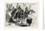 Atheling or Young Noble Riding with His Attendants. by Anonymous