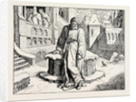 Henry IV. In the Courtyard of the Pope at Canossa. by Anonymous