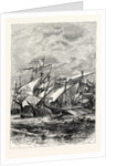 Battle of Sluys Between the English and French Fleets. A.D. 1340. by Anonymous