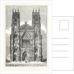 West Front of York Minster by Anonymous
