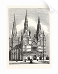 West Front of Lichfield Cathedral by Anonymous
