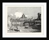 View of St. Peter's from the East above the Bridge of St. Angelo Rome by Anonymous
