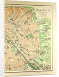 Map of the Monuments in Paris by Anonymous