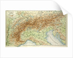 Old Map of the Alps by Anonymous