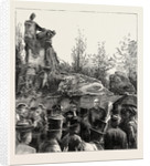 The Unveiling of the Waterloo Monument in the Evere Cemetery, Brussels, by H.R.H. The Duke of Cambridge, Belgium by Anonymous