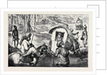 Indian Sketches, Crossing a Nullah by Anonymous