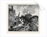 The Eruption of Mount Vesuvius: House at St. Sebastiano Overwhelmed and Burnt by Lava by Anonymous
