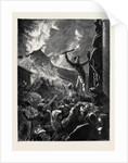 Mount Vesuvius: The Neapolitan Populace Attacking San Gennaro by Anonymous