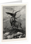 A Royal Duel Between a Stag and an Eagle by Anonymous