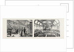 Aberdeen: Warping Machines in the Grandholm Tweed Mills; Interior of the Music Hall. by Anonymous