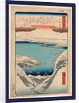 Hira no bosetsu, Evening snow at Hira by Ando Hiroshige