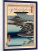 Karasaki no yau, Evening rain at Karasaki by Ando Hiroshige