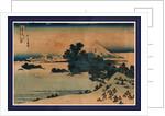 Soshu shichiriga ham by Katsushika Hokusai