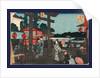 Yushima tenmangu, Tenman shrine at Yushima by Ando Hiroshige