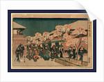 Yoshiwara sakura no zu, Cherry blossoms of Yoshiwara by Ando Hiroshige