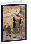 Yakusha no hanami, Actors viewing cherry blossoms by Shunkosai Hokushu