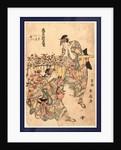 Kuruwa no hana shin modorikago, Flower cart for a new Modorikago dance by Katsukawa Shunsen