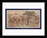 Omatsuri shozoku no shichifukujin, The seven gods of good luck dressed in festival clothes by Katsukawa Shunsen